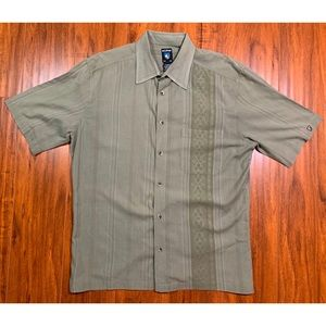 Kuhl Short Sleeve Camp Shirt Tribal Stripe XL